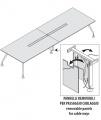 Стол Для Заседаний На Металлических Опорах ENOSI EVO L=380